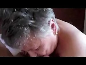 French granny sucking cock