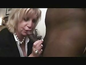 Mature lady Anneke tries the BBC dressed sexy for sex