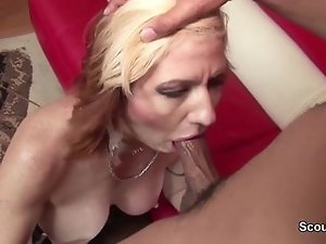 German Granny in First Time Porn Casting