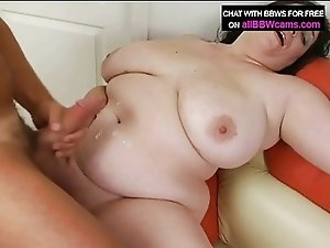 Open Pussy Bbw Gets Cum On Her Fat Tits And Chubby Plump 1